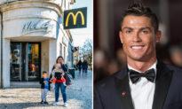 Ronaldo gặp lại nhân viên McDonald đã cưu mang anh lúc đói