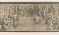 Bản vẽ sơ phác tác phẩm 'Trường học Athens' của danh họa Raphael được khôi phục và đến với công chúng Milan