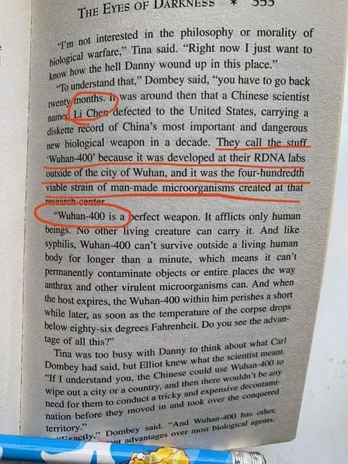 Virus Vũ Hán được dự báo từ năm 1981 trong một tiểu thuyết của Mỹ - 1