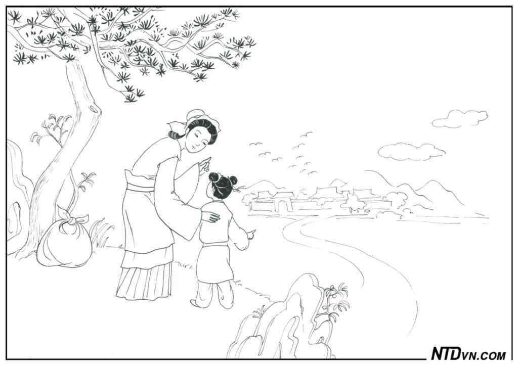 Dạy con sáng đạo, Minh đạo gia huấn, Mẹ Mạnh Tử ba lần chuyển nhà dạy con