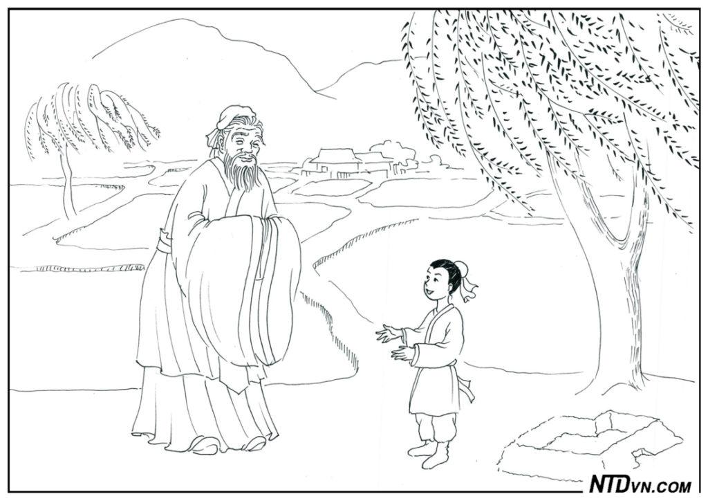 Khổng Tử bái cậu bé là thầy, mở sách hữu ích, dạy con sáng đạo, minh đạo gia huấn