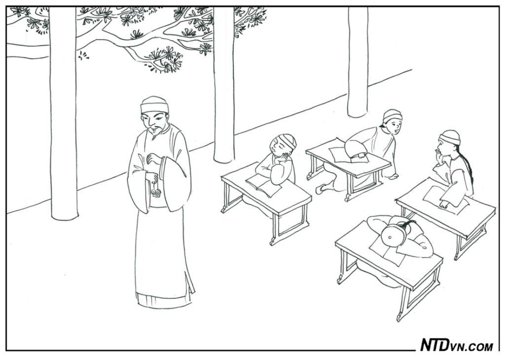 minh đạo gia huấn, dạy con sáng đạo, Thầy đồ dạy học tắc trách bị cắt giảm lộc vận, nuôi mà không dạy