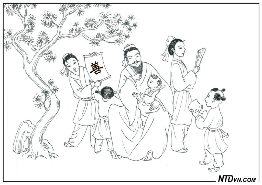 Đậu Yên Sơn hành thiện tích đức 5 con trai đỗ tiến sĩ, người có đạo đức, minh đạo gia huấn, dạy con sáng đạo