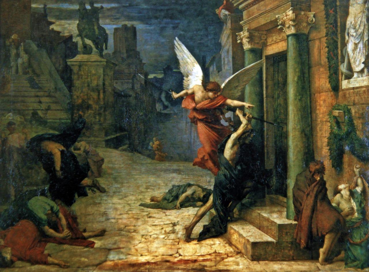 Jules Elie Delaunay (1828-1891), Pháp, Peste à Rome, bị dịch hạch, 1869. (Lịch sự của Trung tâm Phục hưng Nghệ thuật)