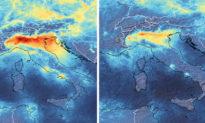 Hình ảnh vệ tinh cho thấy ô nhiễm không khí tại Italy tiêu tan khi dịch bệnh viêm phổi Vũ Hán trở nên tồi tệ hơn