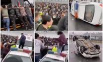 Xung đột lớn tại Hồ Bắc, Giang Tây; hàng nghìn người biểu tình, xe cảnh sát bị lật đổ