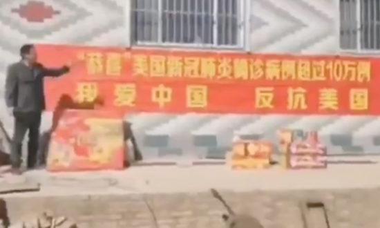 Video dân làng Trung Quốc đốt pháo ăn mừng khi Hoa Kỳ có hơn 100.000 ca nhiễm virus Corona Vũ Hán