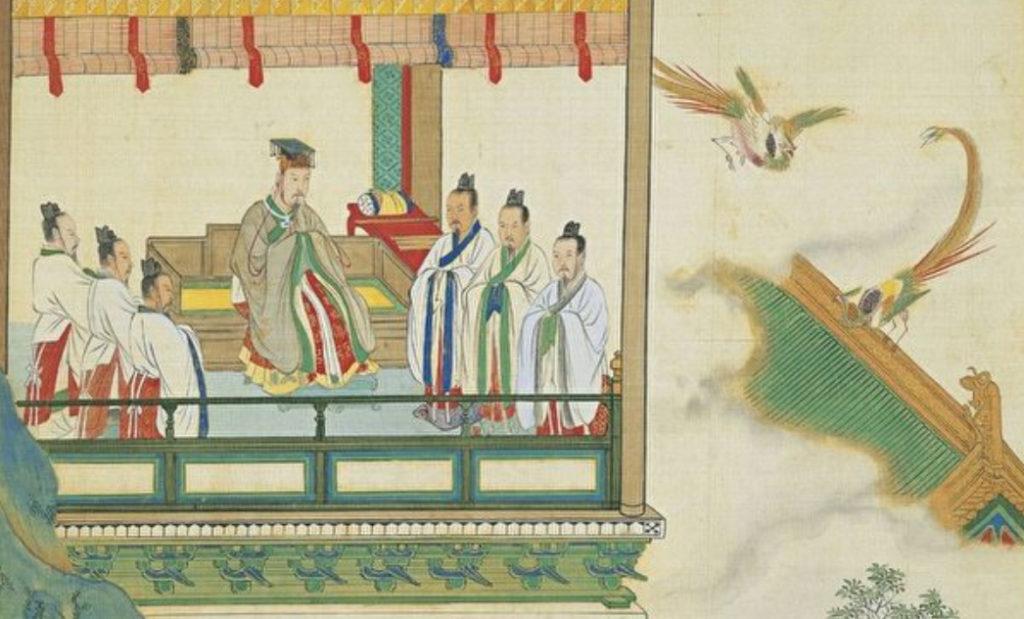 Ở Trung Quốc thời xưa, người ta tin vào việc tuân theo, hòa hợp và đồng tồn tại với trời. Nhân loại sống hòa hợp với trời đất và tồn tại trong sự phụ thuộc tương hỗ với trời đất.