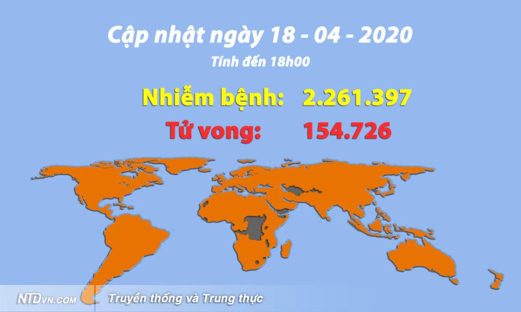 Cập nhật tình hình viêm phổi Vũ Hán (chiều 18/4): Châu Âu hy vọng đã vượt qua đỉnh điểm dịch bệnh