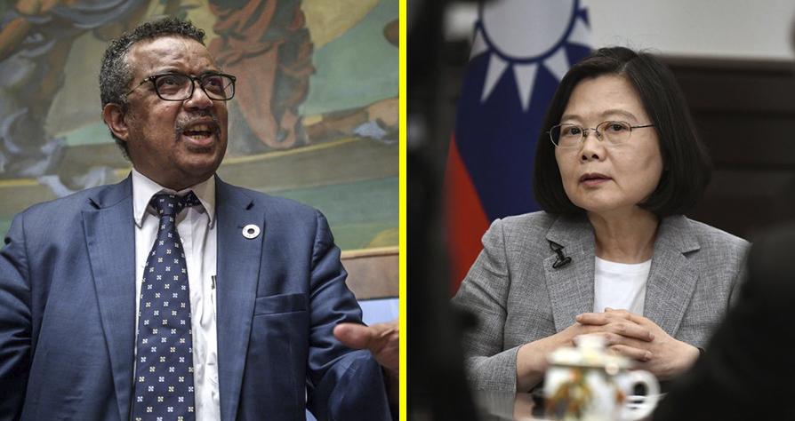 """Kể từ lúc ngồi vào ghế TGĐ WHO, ông Tedros đã tuyên bố tôn trọng chính sách """"Một Trung Quốc"""". Kết quả là, Đài Loan bị chặn tư cách thành viên và không được tham dự bất kỳ diễn đàn nào của tổ chức này. (Ảnh tổng hợp)"""
