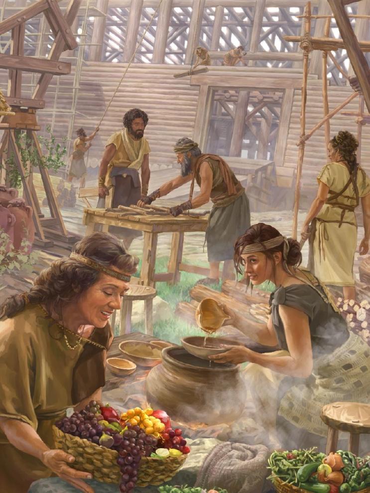 gia đình noah đóng tàu thành công