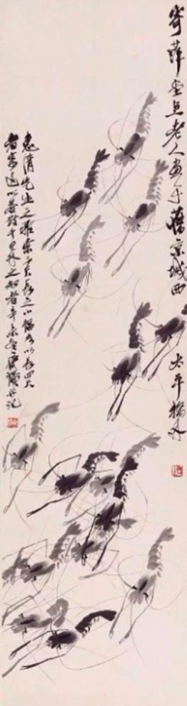 Họa phẩm vẽ tôm của Tề Bạch Thạch 10