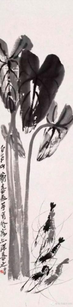 Họa phẩm vẽ tôm của Tề Bạch Thạch 17