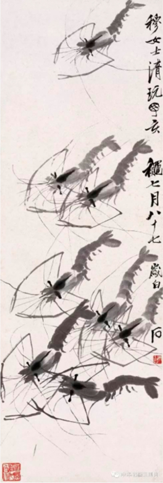 Họa phẩm vẽ tôm của Tề Bạch Thạch 27