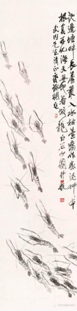 Họa phẩm vẽ tôm của Tề Bạch Thạch 31
