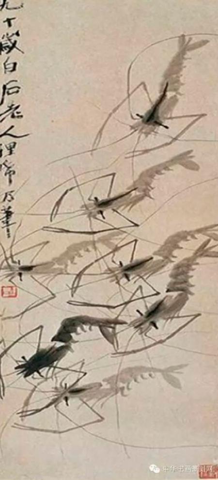 Họa phẩm vẽ tôm của Tề Bạch Thạch 34