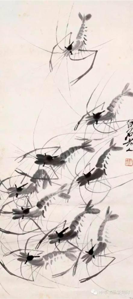 Họa phẩm vẽ tôm của Tề Bạch Thạch 36