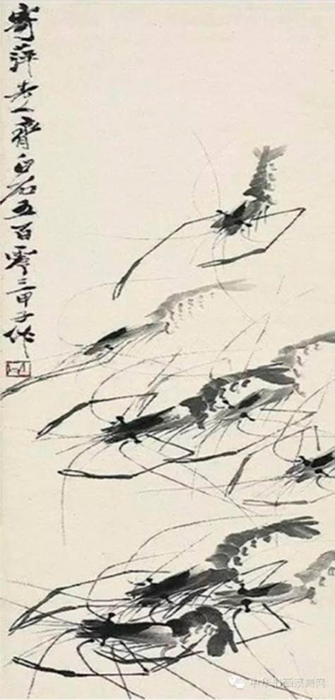 Họa phẩm vẽ tôm của Tề Bạch Thạch 37