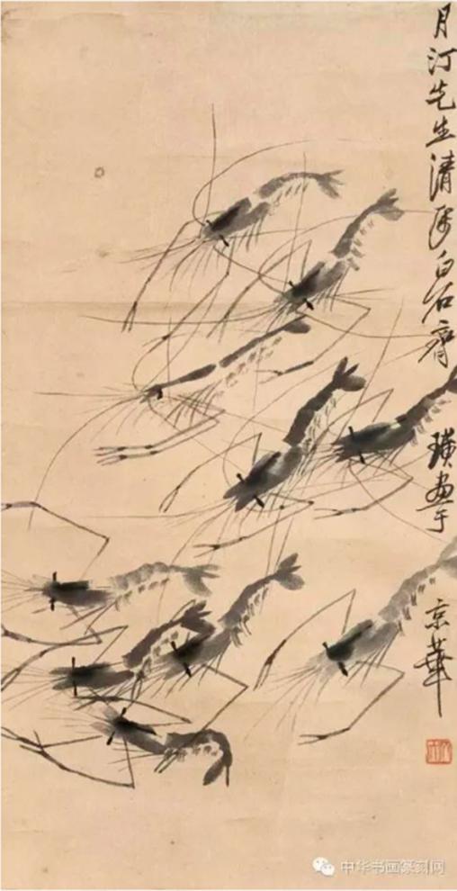 Họa phẩm vẽ tôm của Tề Bạch Thạch 39