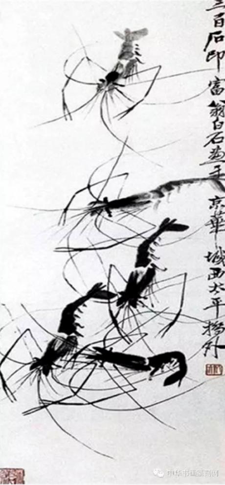 Họa phẩm vẽ tôm của Tề Bạch Thạch 47