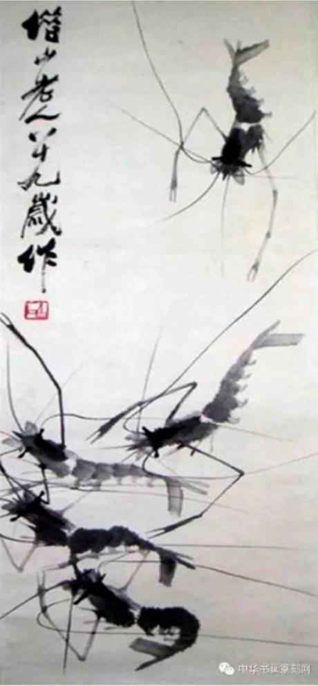 Họa phẩm vẽ tôm của Tề Bạch Thạch 48