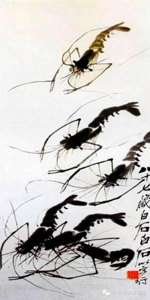 Họa phẩm vẽ tôm của Tề Bạch Thạch 50
