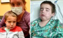 Đau lòng người mẹ chứng kiến đứa con 4 tuổi vật lộn với virus Vũ Hán