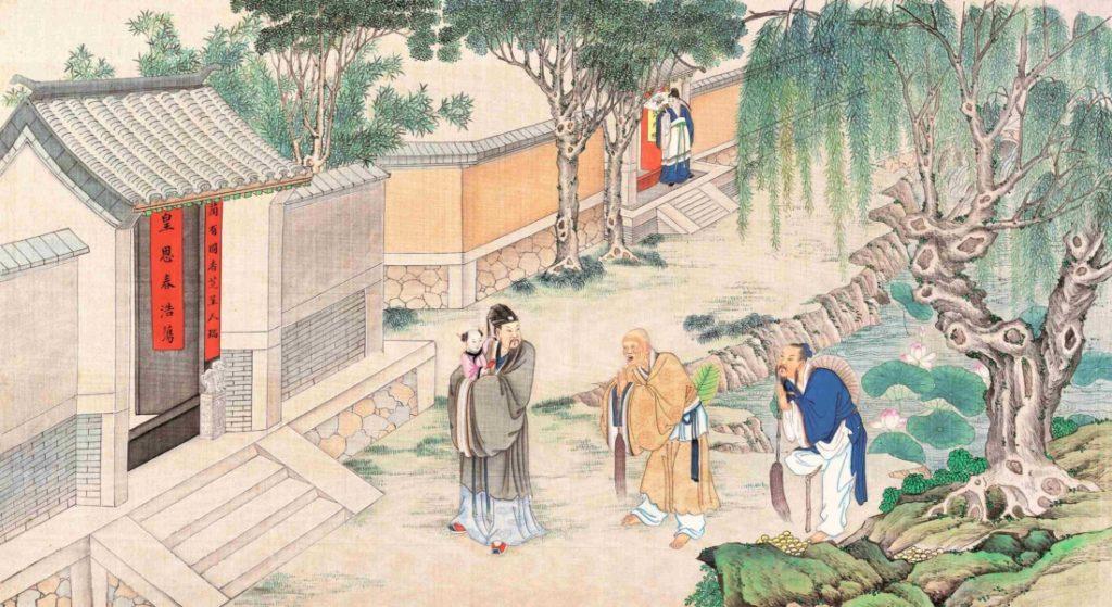 Nền văn hoá truyền thống Trung Hoa 5.000 năm được xây dựng trên nền tảng Đạo giáo, Nho giáo, Thích giáo, đặt định ra nội hàm văn hóa trọng đức hành thiện.
