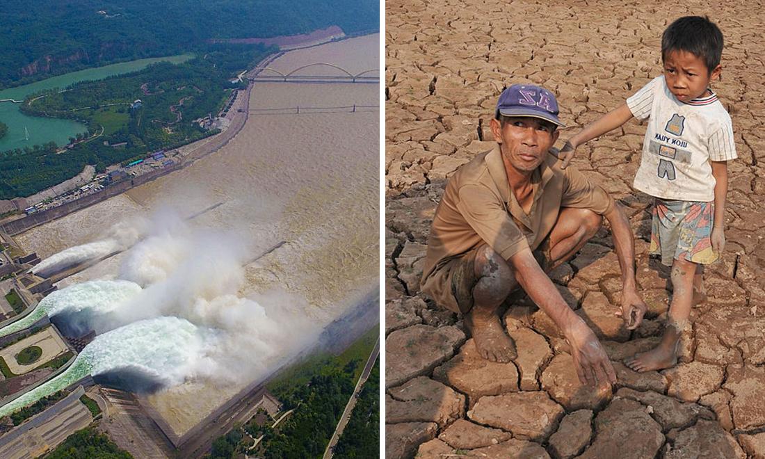 Phát hiện các đập nước Trung Quốc cố ý trữ lượng lớn nước trong thời điểm Việt Nam hạn hán nghiêm trọng...