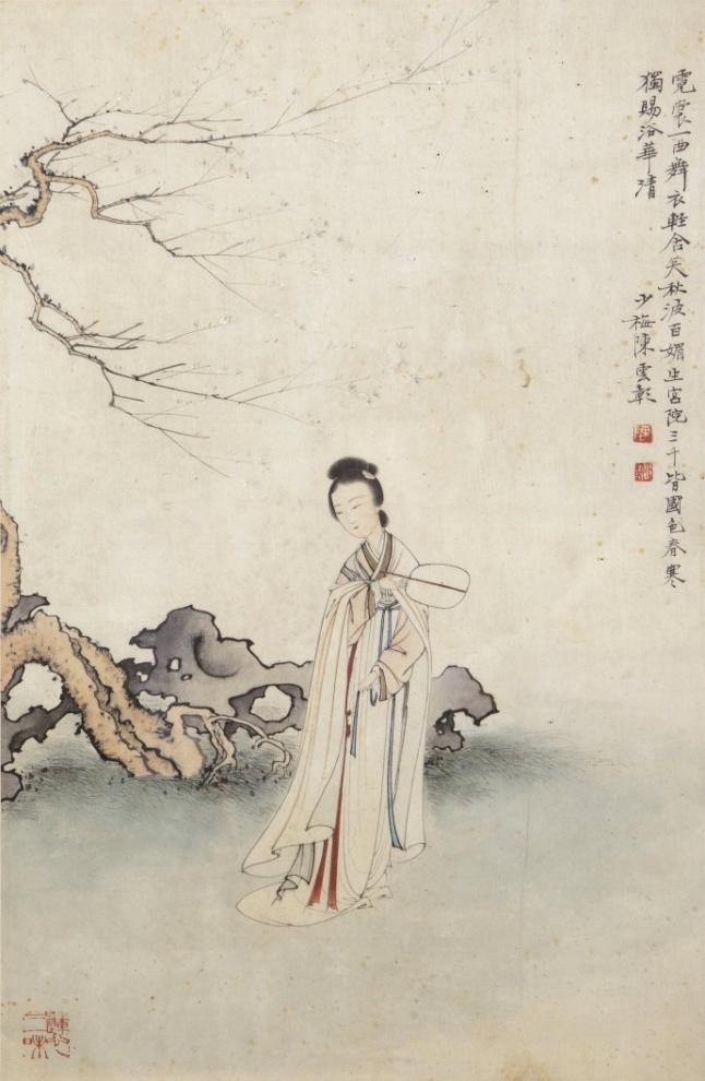 tranh sơn thủy, phụ nữ quý tộc, các nhân vật lịch sử, các bậc cao nhân, ẩn sĩ, người tu Đạo