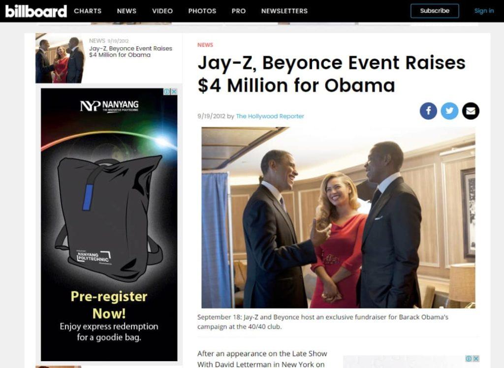 Sự ra đi của Chris Stevens dường như không phải là mối bận tâm quá lớn đối với ông Obama. Bởi chỉ trong một vài ngày sau đó, người ta đã thấy ông trong buổi tiệc của Jay-Z và Beyonce.