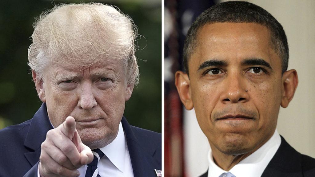 Cùng một sự kiện, nhưng cách xử lý khủng hoảng đã thể hiện sự khác biệt giữa hai vị tổng thống Mỹ: Donald Trump và Barack Obama. (Ảnh tổng hợp)