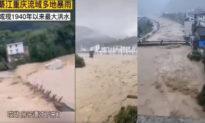 Thượng lưu Tam Hiệp sơ tán khẩn 40.000 dân, mực nước sông Kỳ Giang dâng cao nhấn chìm 2 tầng nhà