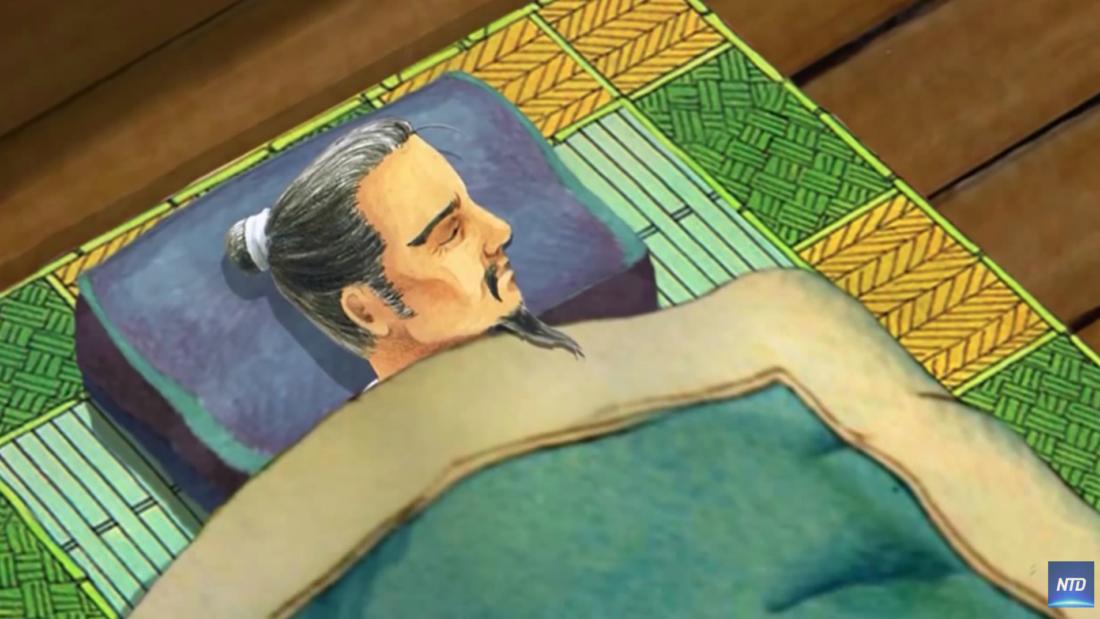 Lúc này Vương Hựu đột nhiên tỉnh giấc, mới biết rằng hoá ra mình nằm mộng, nhưng tay vẫn cầm bút đỏ mà vị khách kia tặng, mấy ngày sau bệnh của ông không chữa mà khỏi.