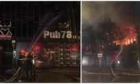 Quán bar lớn ở TP. Vinh bốc cháy ngùn ngụt trong đêm
