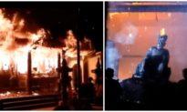 Đền Quan Tam Lâm Du ở Hà Nội bốc cháy ngùn ngụt, nhiều tài sản bị thiêu rụi