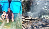 Hai ngôi nhà gỗ ở Quảng Nam bất ngờ bốc cháy giữa trưa, 2 em bé may mắn thoát nạn
