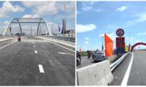 Long An thông xe 6 chiếc cầu bắc qua sông Vàm Cỏ Tây