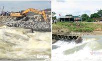 Nghệ An vỡ đập tràn trên sông Lam, gây thiếu nước nghiêm trọng