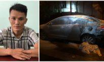 Bắt giữ đối tượng thiêu trụi 6 xe hơi đậu ven đường TP. Nha Trang