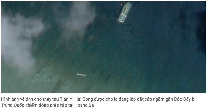 Trung Quốc đặt cáp ngầm quanh Hoàng Sa gần 2 tuần: Vì mục tiêu quân sự?