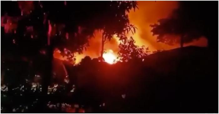 Cháy nổ lớn tại kho hàng ở Hà Nội lúc nửa đêm