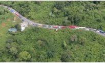 Tai nạn liên hoàn giữa 2 xe khách và 1 xe tải, đèo Bảo Lộc ách tắc nhiều giờ