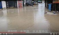 Trời như muốn dìm sạch Trung Quốc? Khắp nơi mưa bão xối xả, xảy ra ngập lụt