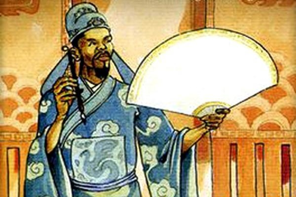 """Vua Nguyên bèn phê lên chiếc quạt mà Đĩnh Chi vừa đề thơ vịnh bốn chữ: """"Lưỡng quốc Trạng Nguyên"""", rồi ban tặng cho ông."""