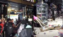 Các cuộc biểu tình bạo loạn ở New York, những tên côn đồ vô chính phủ đã đập phá các cửa hàng