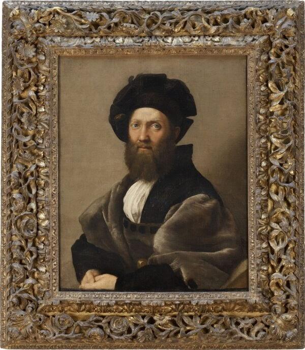 Chân dung của Baldassare Castiglione, vẽ bởi Raphael năm 1513. Sơn dầu trên vải. Bộ Phận Tranh Bảo Tàng Louvre, Paris. (Angele Dequier / Bảo Tàng Louvre, Quận RMN-Grand Palace)