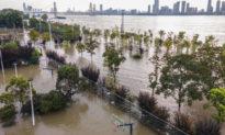 Đỉnh lũ tấn công dọc bờ sông Trường Giang, nước dâng đến mức báo động