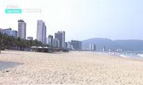 Đà Nẵng cách ly: Bãi biển trống trơn, khung cảnh vắng lặng không một bóng người