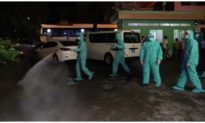 Phun khử trùng toàn bộ 2 bệnh viện ở Đà Nẵng trong đêm